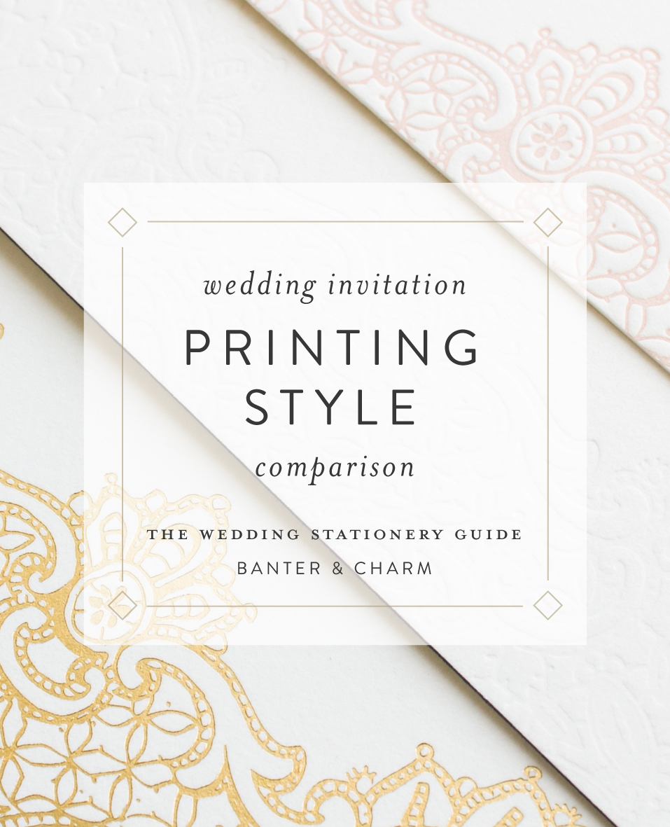 wedding invitation printing style comparison