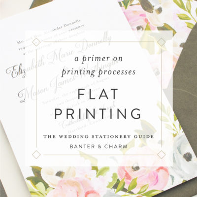 flat printing for wedding invitations