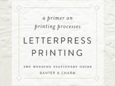letterpress printing for wedding invitations