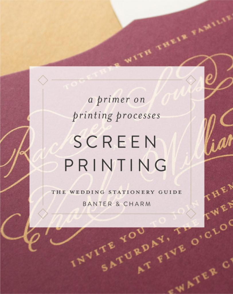 metallic gold screen printing