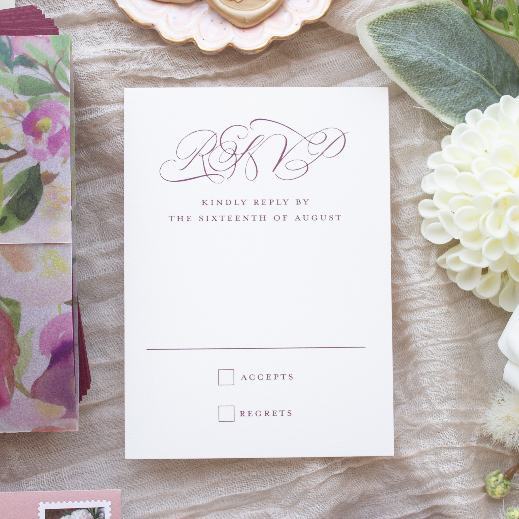 RSVP card calligraphy