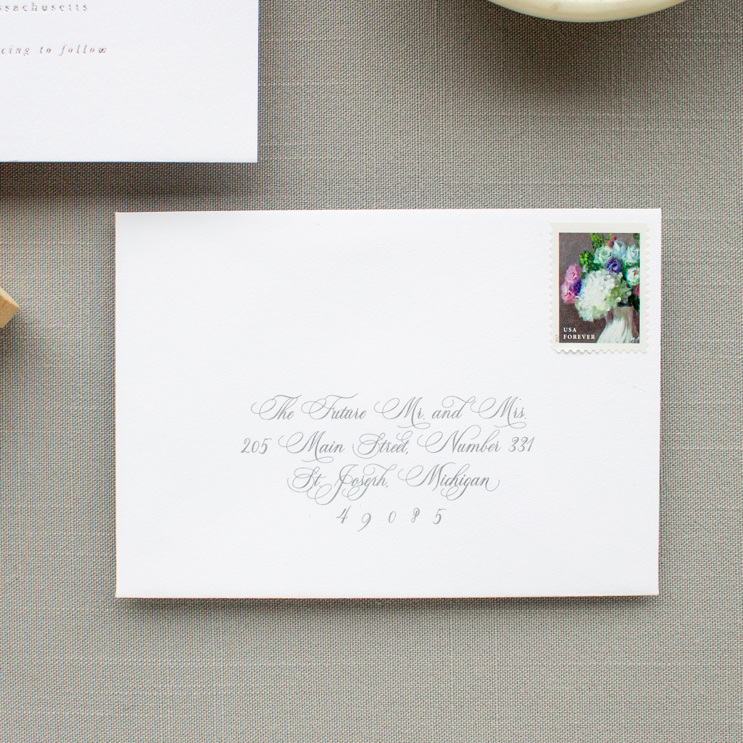 the future mr and mrs rsvp envelope address