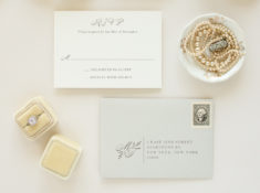 reply card envelope with monogram