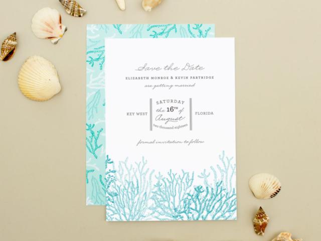 beach wedding save the dates