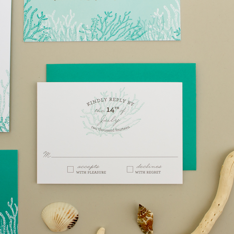 wedding reply card