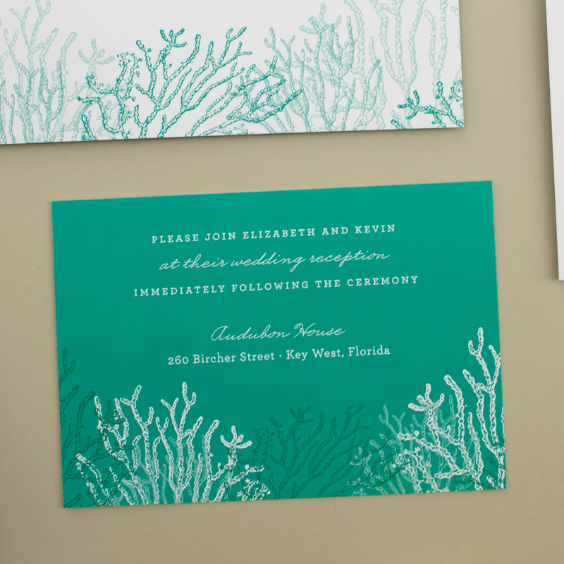beach wedding information inserts