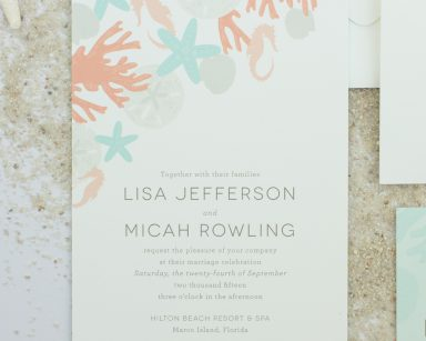 Refreshing | Destination Beach Wedding Invitations