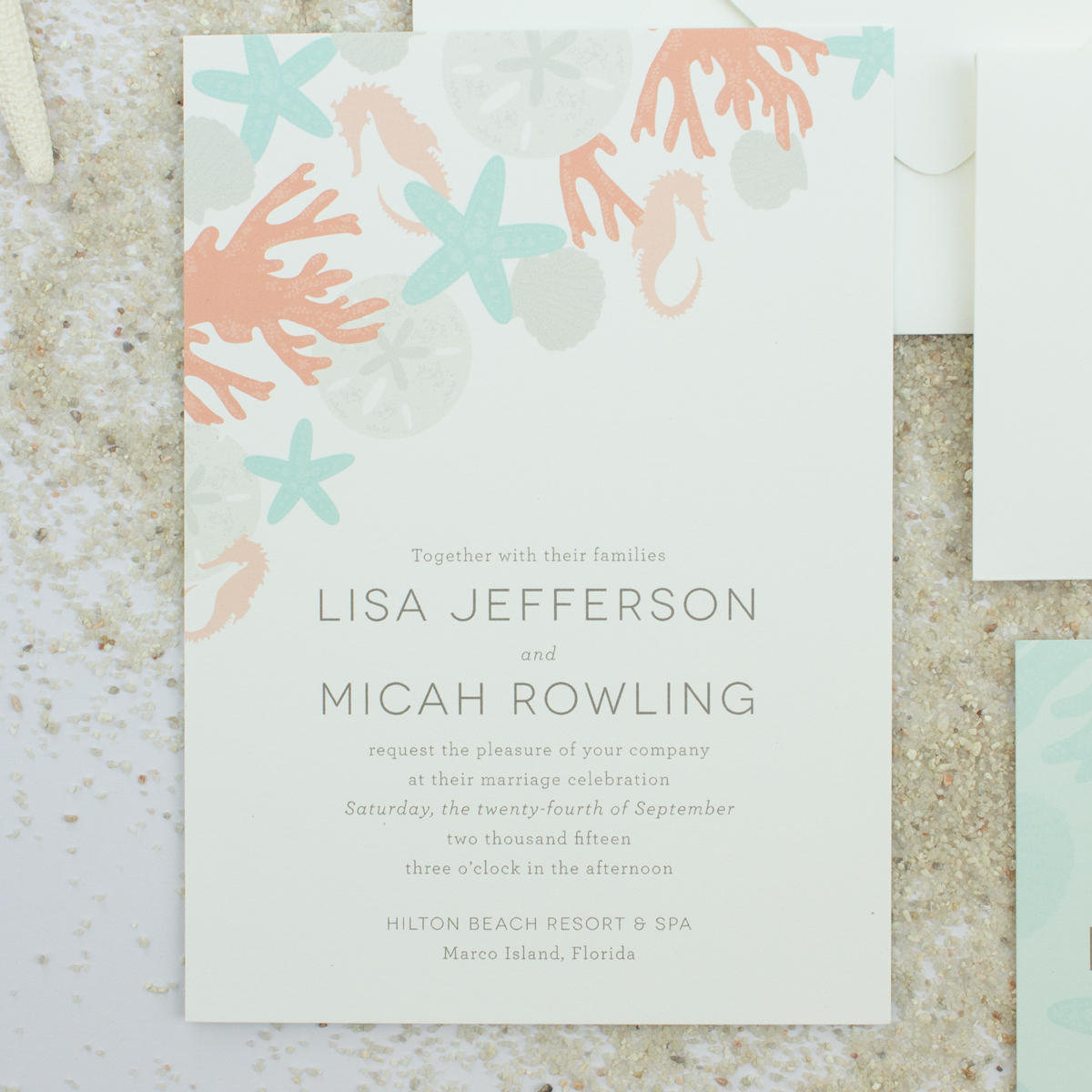 destination beach wedding invitations