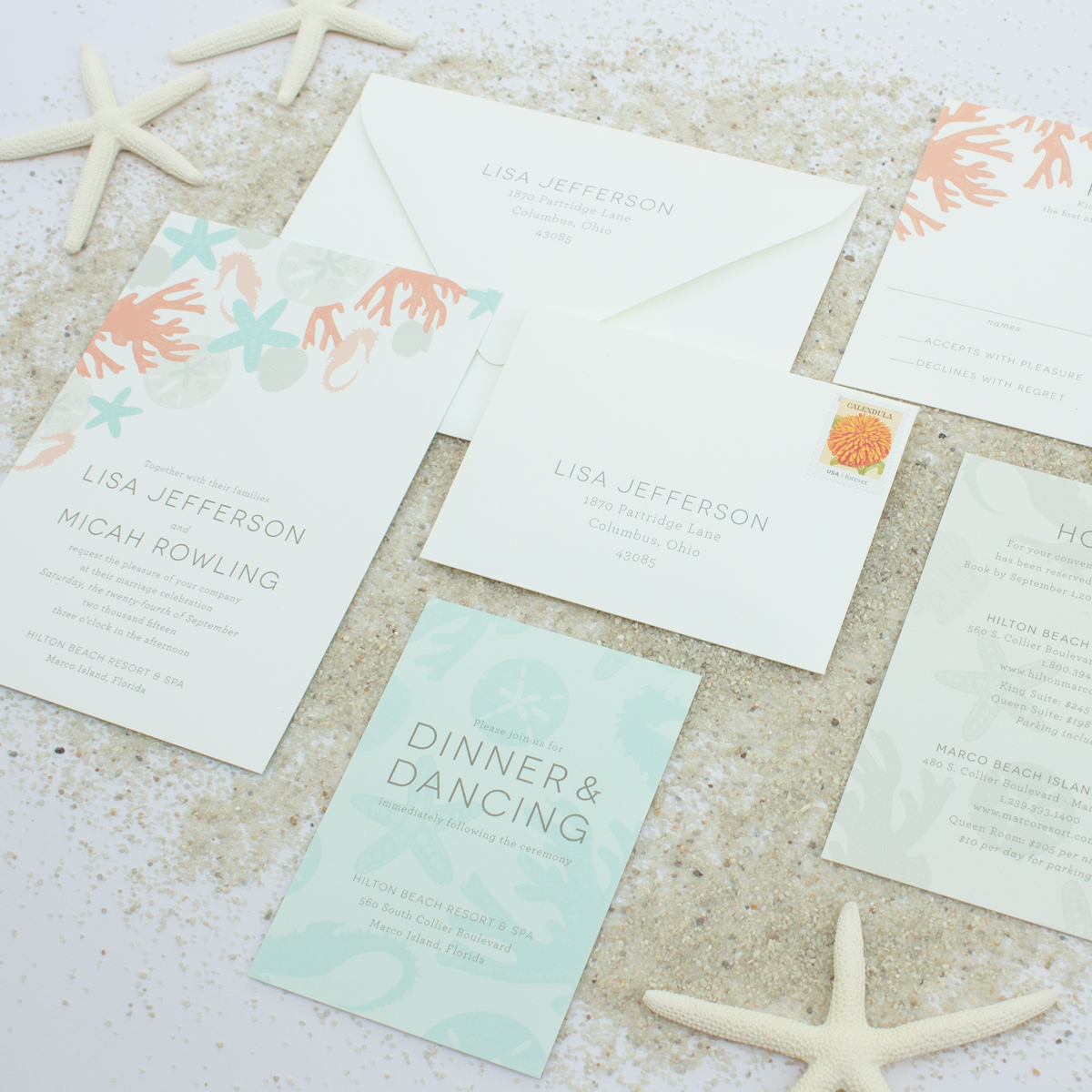 modern invitations for destination weddings