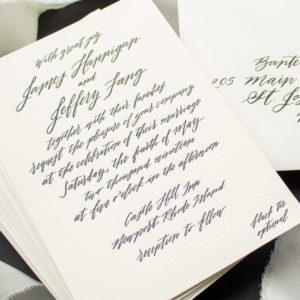 Modern Calligraphy Invitations for Rhode Island Wedding | Contempo