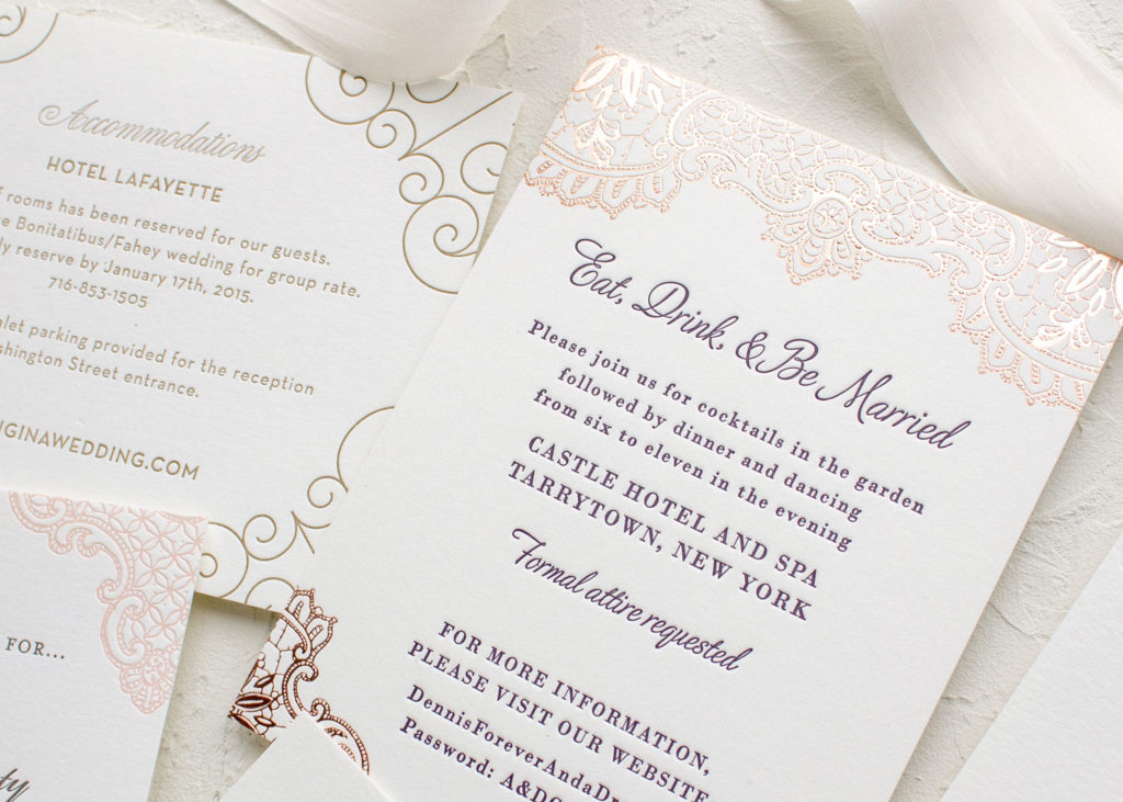 wedding information insert card