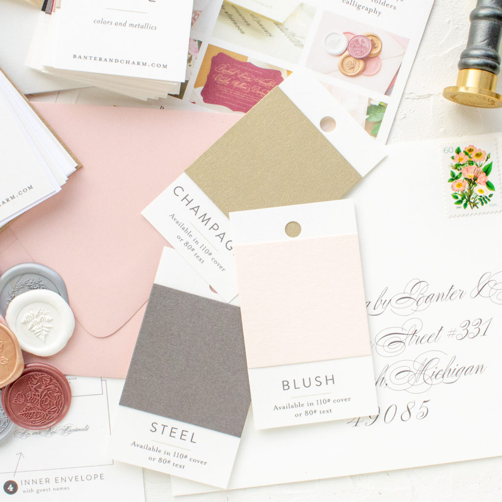 colored paper for wedding invitations