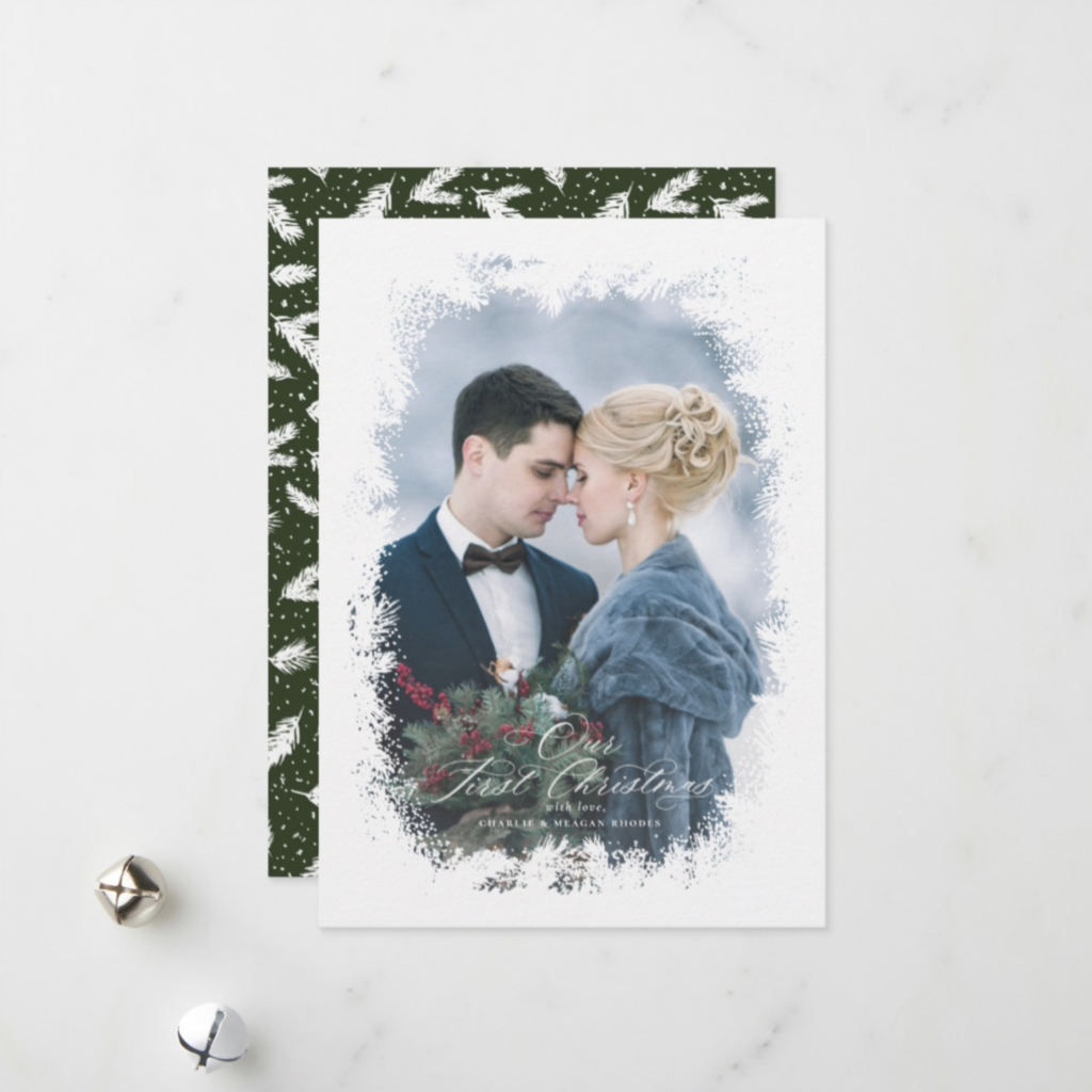First christmas card for newlyweds