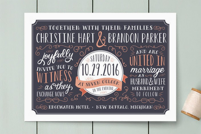 Serendipity Hand Lettered Wedding Invitation for Minted