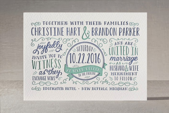 hand lettering vintage poster invite