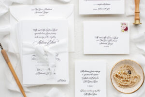 Silk ribbon wedding invitations