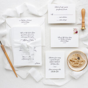 Formal Elegant Wedding Invitations in Letterpress | Formal Script