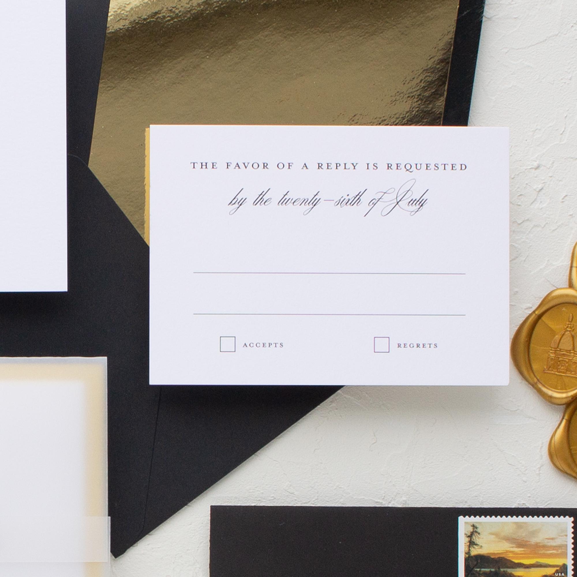simple wedding rsvp card