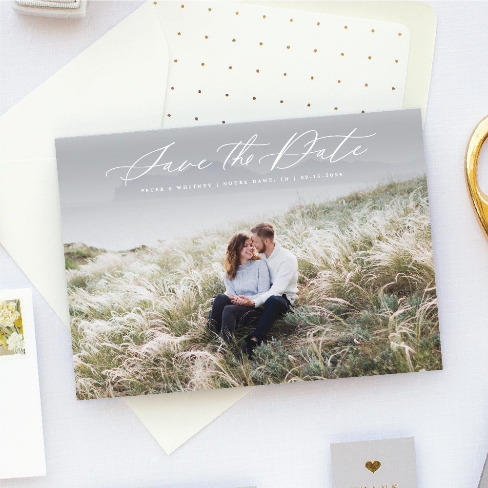 Simple Photo Save the Date Card landscape