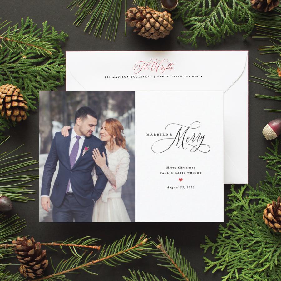 Christmas newlywed card