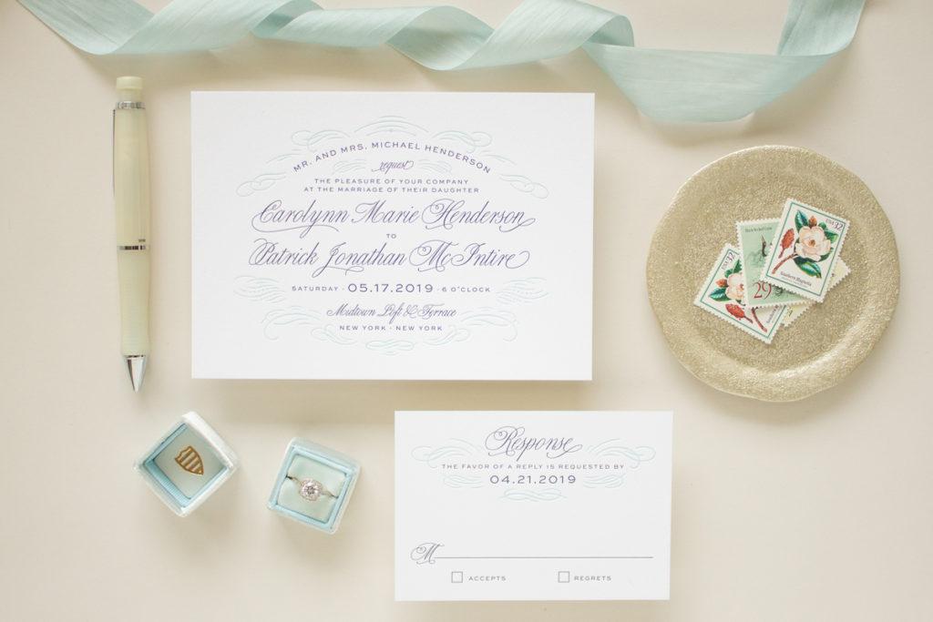 letterpress invitations for formal weddings
