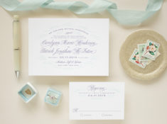 letterpress invitations for formal weddings