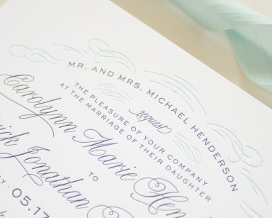 Classic Invitation Design in Letterpress | Sophisticate
