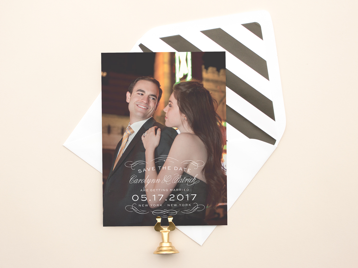 Typographic wedding save the date