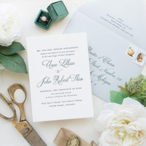 South Bend Wedding Invitations in Letterpress | Annie
