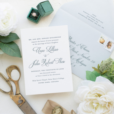 south bend wedding invitations