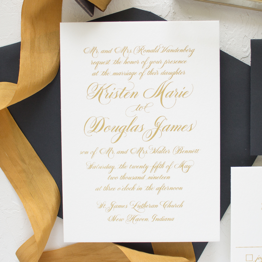 hand calligraphy script wedding invitations