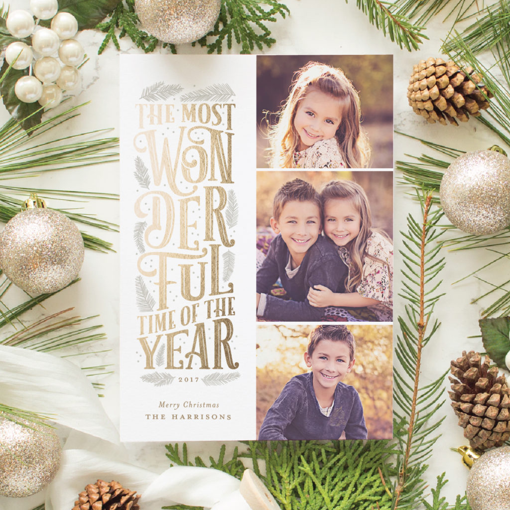 typographic christmas cards for minted