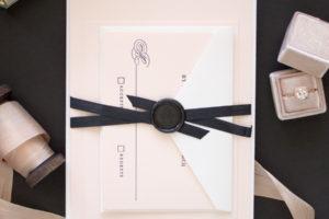 Black Tie Wedding Invitations in Letterpress    Timeless