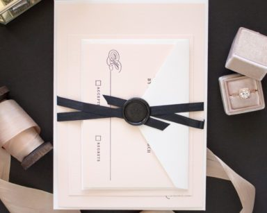 Black Tie Wedding Invitations in Letterpress  | Timeless