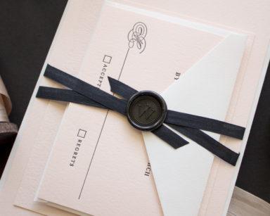 Timeless | Letterpress Invitations for Black Tie Weddings