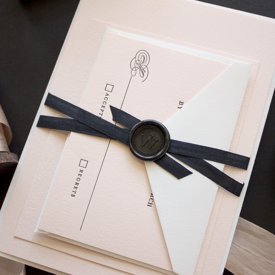 Timeless | Classic Letterpress Invitations for Black Tie Wedding ...