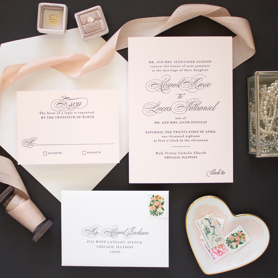 invitations for black tie wedding