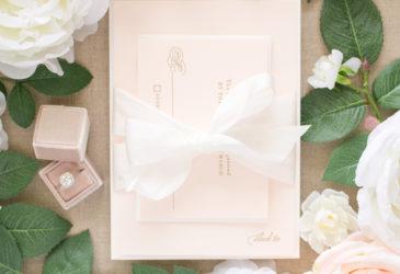 silk ribbon wrap on invitations