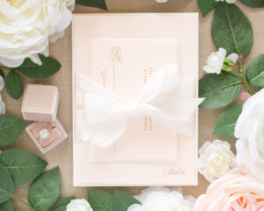 Timeless | Pink and Gold Wedding Invitations in Letterpress