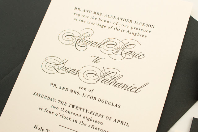 letterpress invites on pink paper