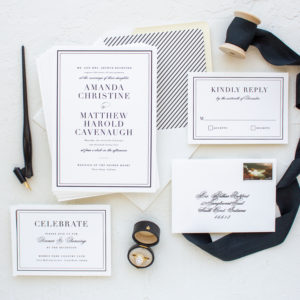 Classic Wedding Invitations for Notre Dame Brides | Classic Border