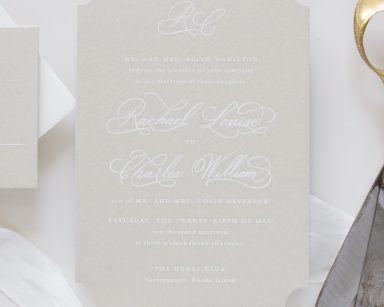 Calligraphy Wedding Invitations | Treasured