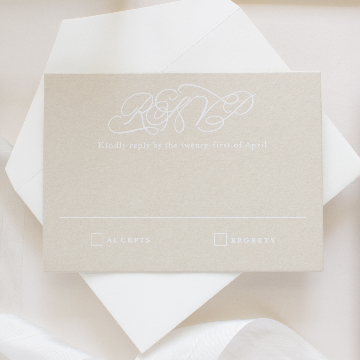calligraphy rsvp card