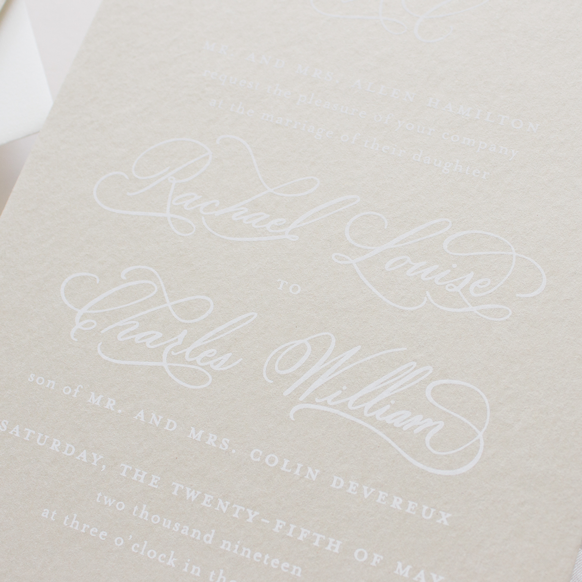 neutral color invitation suite