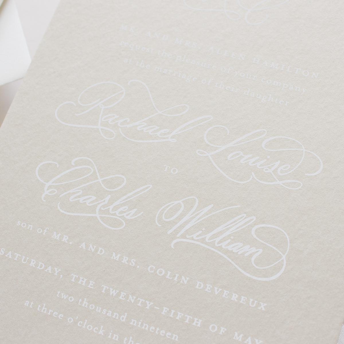neutral color invitation suite