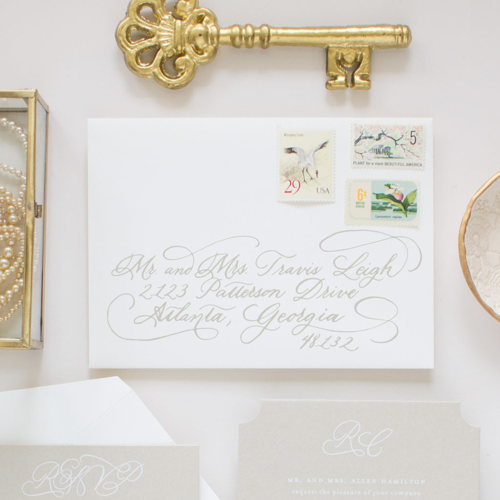 calligraphy envelopes for wedding invitation