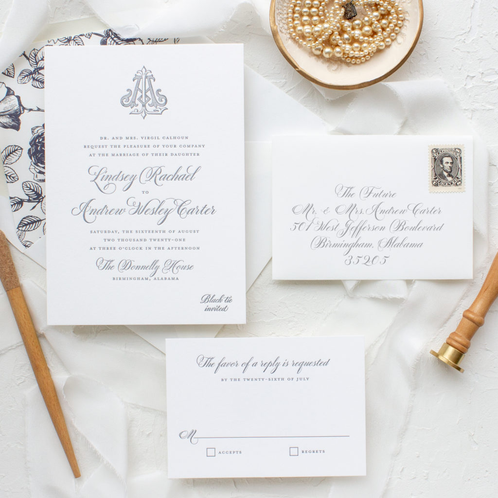 traditional invitations for southern weddings