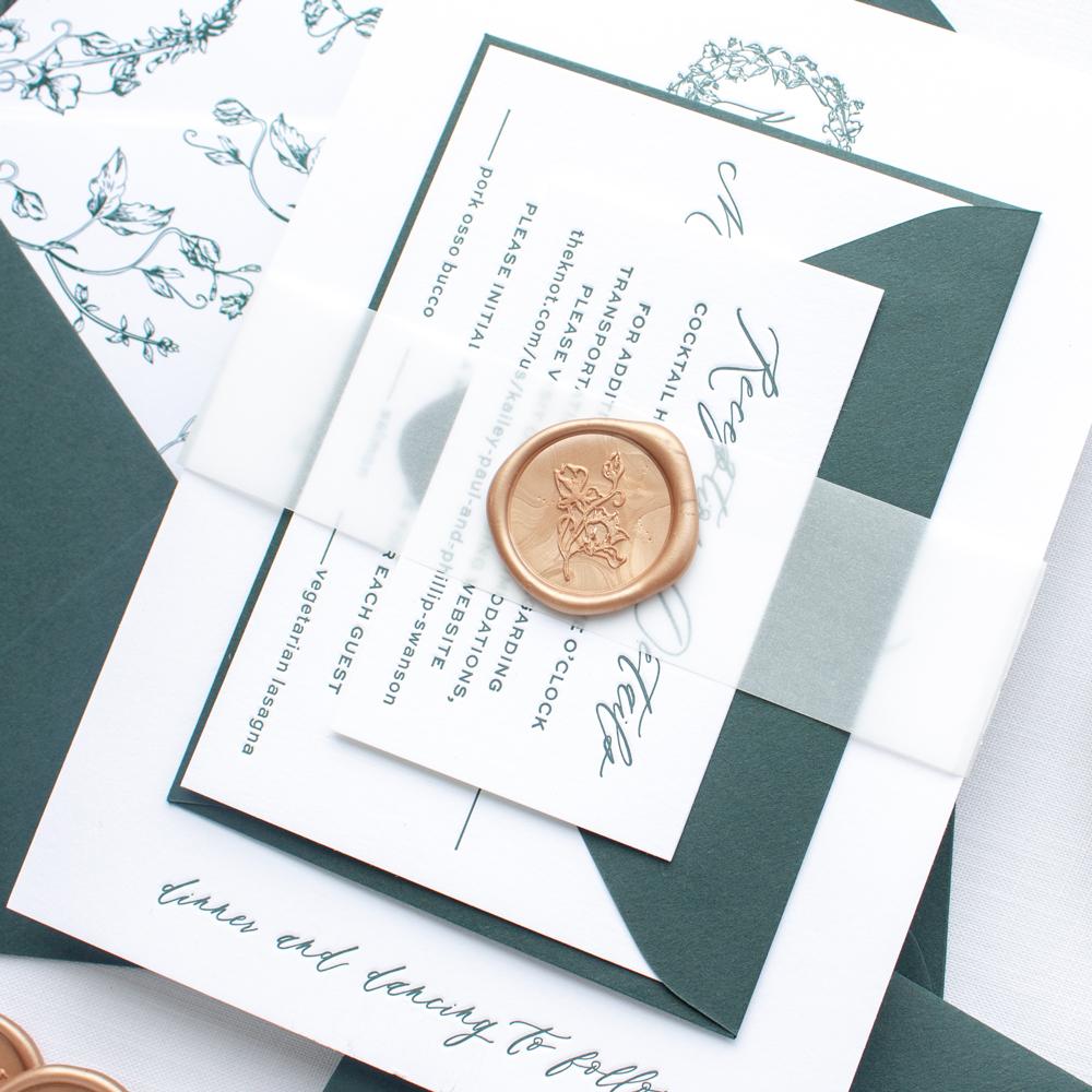 wax seal wedding invitations