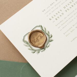 Wedding Invitation with Wax Seal | Sealed