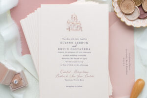 wedding venue illustration invitations